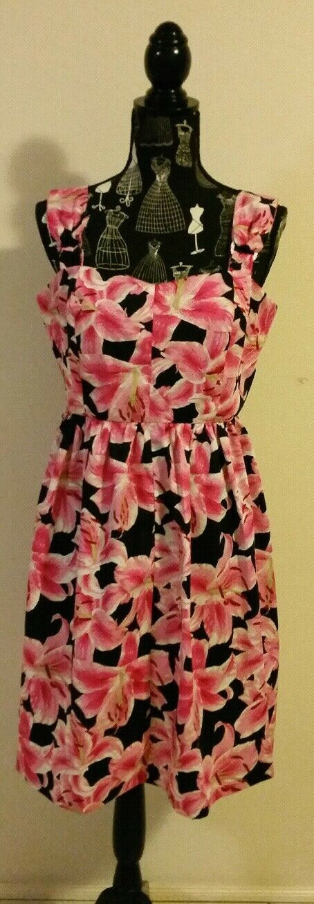 NEW Stargazer Lily Fit and Flare  dress, size 14