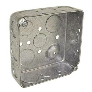 Details About 2 Gang Metal Interior New Old Work Standard Square Ceiling Wall Electrical Box