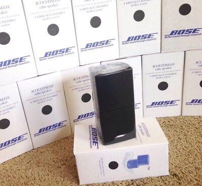 Bose Double Cube Speaker Direct Reflect DoubleShot Acoustimass Lifestyle Black