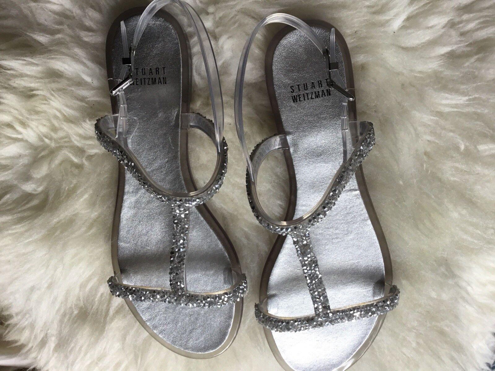 Stuart Wetzman Transparent Women Sandal ,size 39 EU (size 7 US)