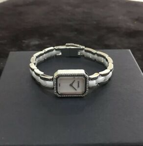 5c73de82 Details about Chanel Premiere Stainless Steel/Ceramic Ladies Diamond Watch