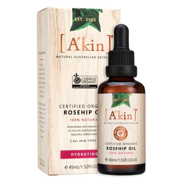 A'kin 'Hydrating' Certified Organic Rosehip Oil 45ml