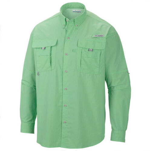 NEW COLUMBIA Men's PFG Bahama™ II Long Sleeve Fishing Shirt UPF 30 Vented