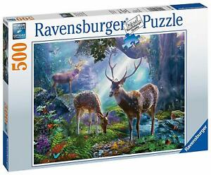 Ravensburger-Jigsaw-Puzzle-DEER-in-the-WILD-Animals-in-the-Forest-500-Pieces