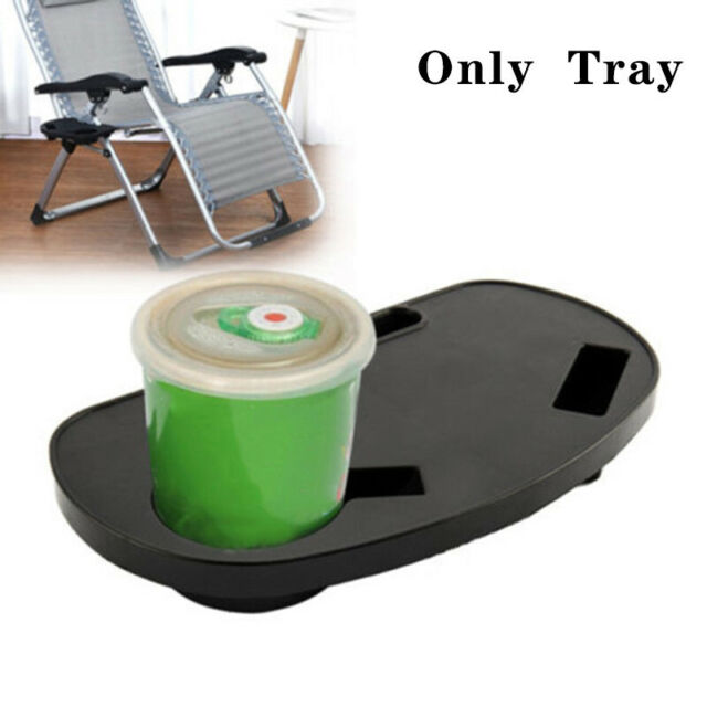 Zero Gravity Chair Cup Holder Side Tray Folding Table For Picnic Beach Camp