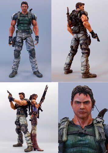 Square Enix Play Arts Resident Evil 5 Deluxe 9 Inch Action Figure Chris ROTfield