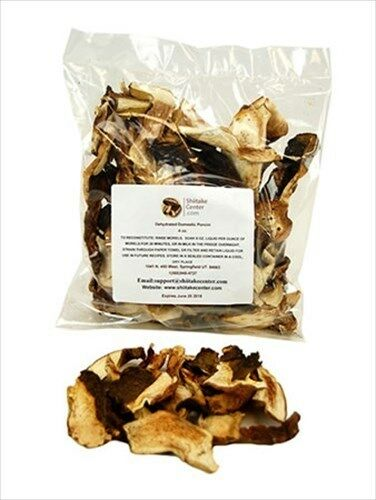 DEHYDRATED DOMESTIC PORCINI MUSHROOMS- DRIED EDIBLE GOURMET MUSH ROOMS: 1 & 4 OZ