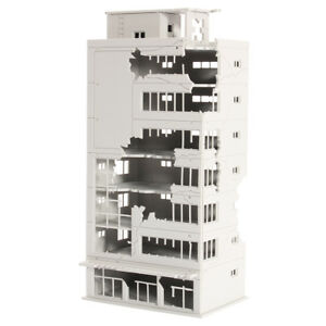 N-Scale-1-144-Ruined-Building-White-After-War-Assembling-Model-For-GUNDAM-Scene
