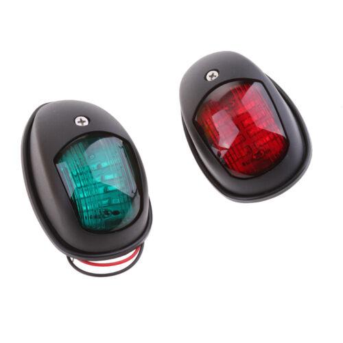 2 Stück Boot rot grün LED Navigationslichter maritime Port Steuerbord schwarz