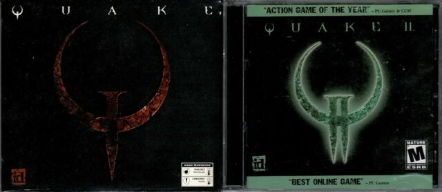 Quake & Quake II Pc New Original Shooter and Game of the Year Sequel