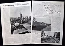 BYPASS / RING ROAD FOR CANTERBURY KENT TRAFFIC PROBLEM 2pp PHOTO ARTICLE 1973