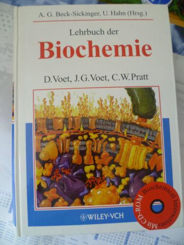 """1 von 1 - Buch mit CD-ROM """"Lehrbuch der Biochemie"""" Voet Pratt Studium NEU Wiley-Vch"""