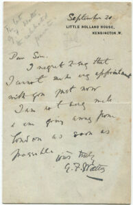 George-Frederic-Watts-Autograph-Letter-Signed