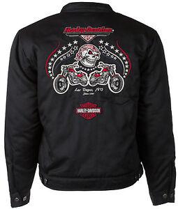 Harley Davidson Las Vegas Cafe Biker Chino Jacket S Ebay