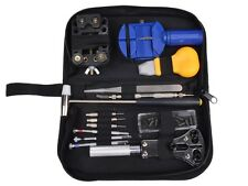 Watch Repair Tool Kit Opener Link Remover Spring Bar Band Pin Carrying Case