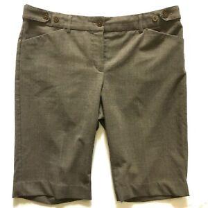 EXPRESS-Editor-Brown-shorts-SIZE-10