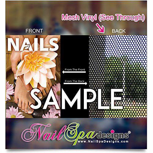 Manicure with Purple Color Poster P-131 Nail Salon Mesh Vinyl Poster