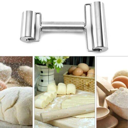 Neu Rostfreier Stahl Durable Edelstahl Nudelholz Pizzateig Roller Küchenhelfer