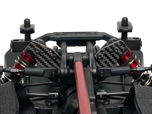 Set of 2 Carbon Fiber Front and Rear Shock Towers for ARRMA Infraction