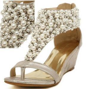 d4918214d3b45 Summer Sandals Bohemian Pearl Beads Flat Beach Thong Flip Flop Women ...