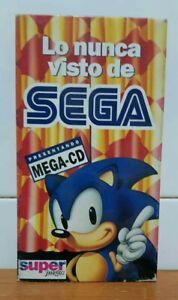 LO NUNCA VISTO DE SEGA PRESENTANDO MEGA-CD SUPER JUEGOS VHS