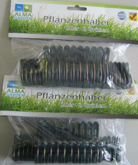 20 Stück Pflanzenhalter 2 Größen Pflanzen Halter Pflanzenklammer Klammern Klemme