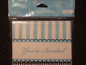 Sweet-Baby-Feet-Blue-Invitation-Gatefold-8-Baby-Shower-Birthday-Supplies-Party