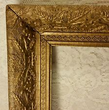 VTG 11 X 13 ANTIQUE FRENCH ITALIAN GESSO  GOLD GILT WOOD PICTURE PAINTING FRAME