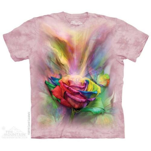 Healing Rose T-Shirt by The Mountain Birds Bugs Pink Flower Sizes S-5X NEW