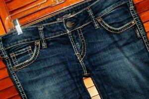 Silver-Jeans-Size-31-x-34-Women-039-s-Mckenzie-Slim-Boot-Cut-Stretch-Denim