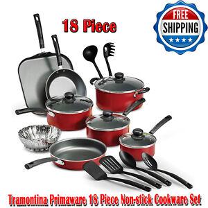 Tramontina-primaware-18-piezas-utensilios-de-cocina-de-Antiadherente-Rojo-aptas-para-lavavajillas