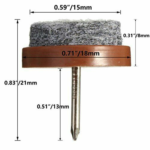 40pcs Round Heavy Duty Nail-on Anti-Sliding Felt Pad for Furniture Chair Table L