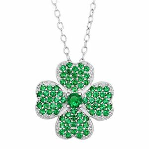 Shamrock-Pendant-with-Green-Cubic-Zirconia-in-Sterling-Silver