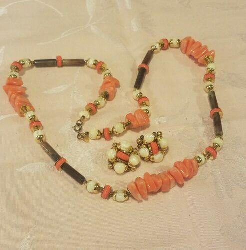 Vintage Lanvin Paris Modernist Necklace & Earrin… - image 1