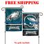 Philadelphia-Eagles-Logo-Garden-Outdoor-Flag-Double-Sides-12x18-034-NFL-2019-NEW thumbnail 1