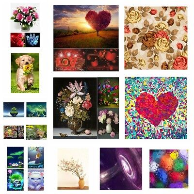 5D DIY Diamond Painting Embroidery Cross Crafts Stitch Kit Home Art Decor Gifts