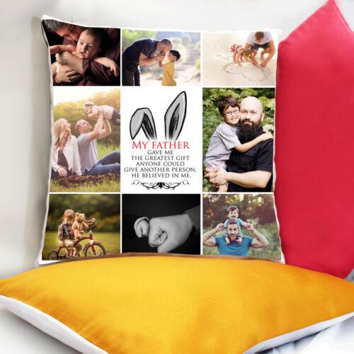 Personnalisé Imprimé Photo Coussin Collage Housse de Coussin-coloré arrière option