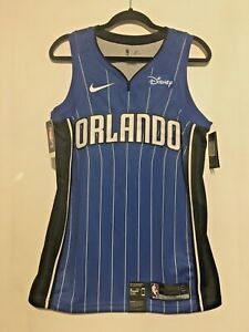 finest selection 79a86 10421 Details about Blank No Name Orlando Magic Nike Blue Jersey w Disney Patch  Medium 44 Swingman