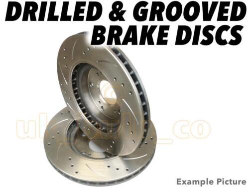 Drilled /& Grooved FRONT Brake Discs VAUXHALL ASTRA Mk3 Hatch 2.0 i 16V 1991-98