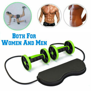 Gym-Abdominal-Abs-Roller-Waist-Wheel-Handle-Fitness-Exercise-Workout-Machine-USA