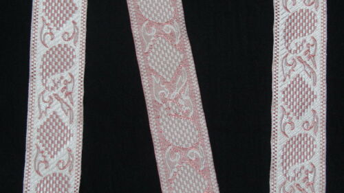 "3.04 Cm 1.20/"" wide By The Yard Jacquard Trim Woven Border Sew Ribbon T893"