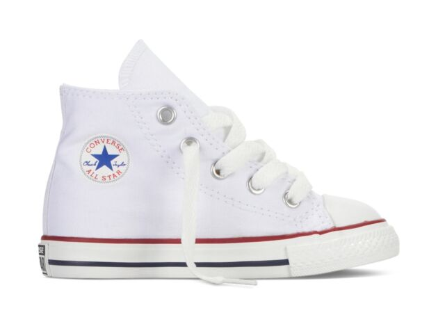 0073d45e75d Converse Chuck Taylor All Star Infant Optical White Textile Trainers ...