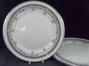 Lenox-LACE-POINT-2-Dinner-Plates-GREAT-Trim-signs-of-use-GREAT-VALUE