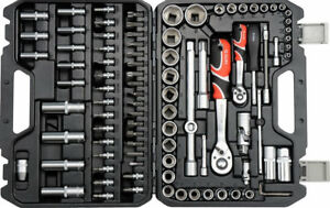 3d92bbd9342 94pcs Ratchet Socket Set 1 2
