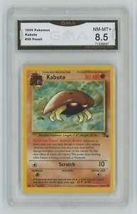 1999 Pokemon Fossil Unlimited #50 Kabuto GMA 8.5 Nm-Mt+ A4
