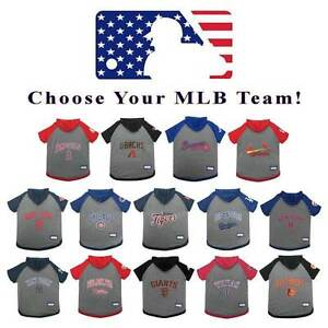 Details about MLB Baseball Dog Hoodie T-Shirt   PICK YOUR TEAM   Sports Fan  Tee Pet Puppy Gear 7ef7e2585