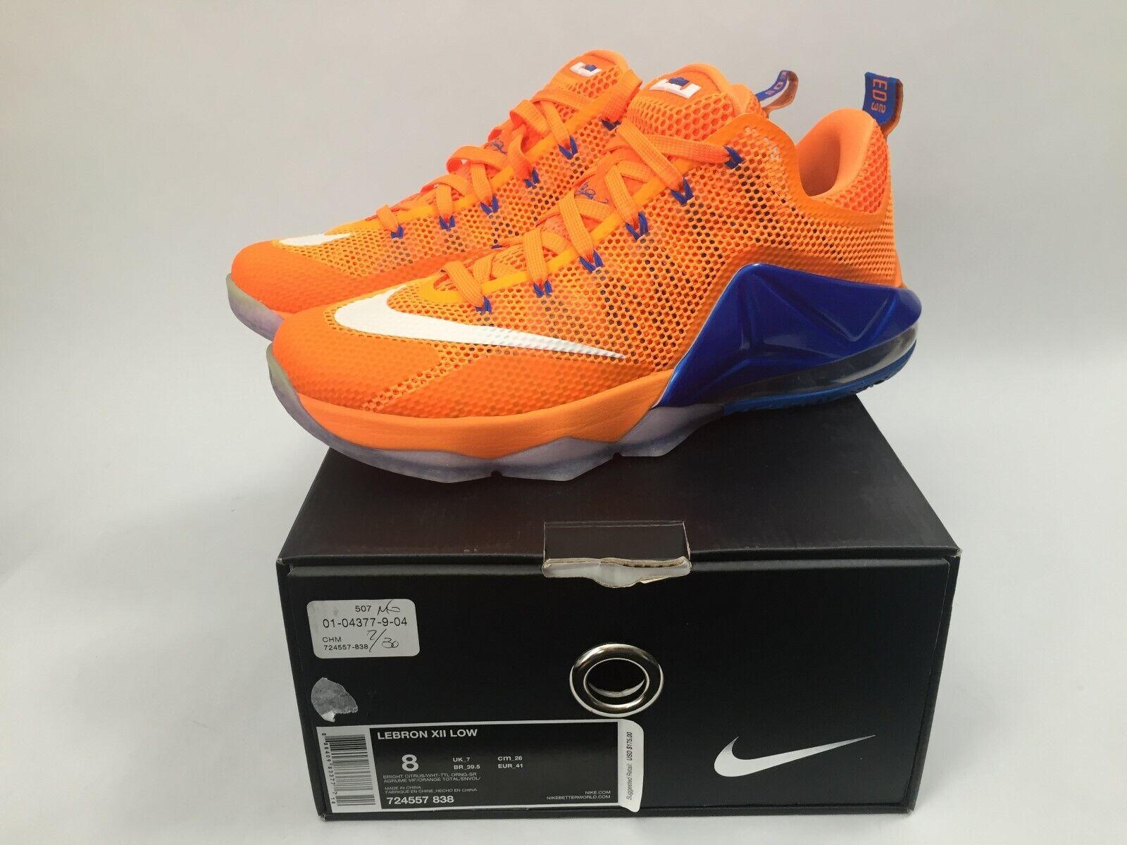Nuova Nike Lebron XII Scarpe Basse Basketball  Dimensione 8 arancia 72457 -838  n ° 1 online