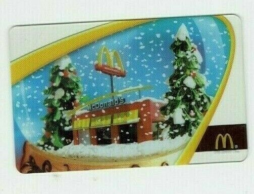 McDonald's Gift Card - Christmas / Snow Globe - 2005 - No Value - I Combine Ship