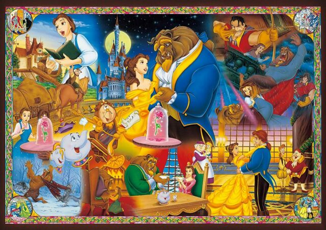 Disney Beauty and The Beast Forever in Love 1000pcs Shine Jigsaw Puzzle Tenyo for sale online