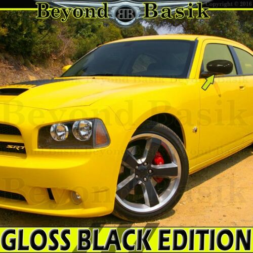 For 2006 2007 2008 2009 2010 DODGE CHARGER GLOSS BLACK Mirror COVERS Overlays